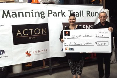 Friends of the Community - Manning Park Trail Run raised $10,000 for the Starlight Foundation