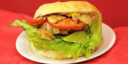 Beef burgers on the FOC food van menu